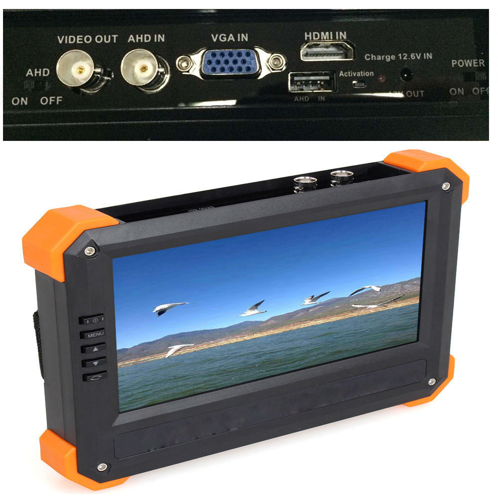 Free shipping! X41A 7 TFT LCD Monitor HD-AHD+HDMI+VGA+CVBS Camera Video Test Tester 12V-Out original a500 a505 vga card v000190350 cs10mg 6050a2251501 vga a02 512m test good free shipping