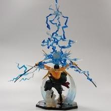 One Piece Action Figure Roronoa Zoro With Flash Aura Ashura 170mm Collectible Model Toy Anime One Piece DIY Zoro Figure Toys
