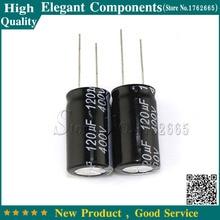 5 шт. 120 мкФ 400 V 400 V 120 мкФ Алюминий электролитический конденсатор с алюминиевой крышкой, 400 V/120 мкФ Размеры 18*30 мм специальные внутренние подкладки для электролитический конденсатор