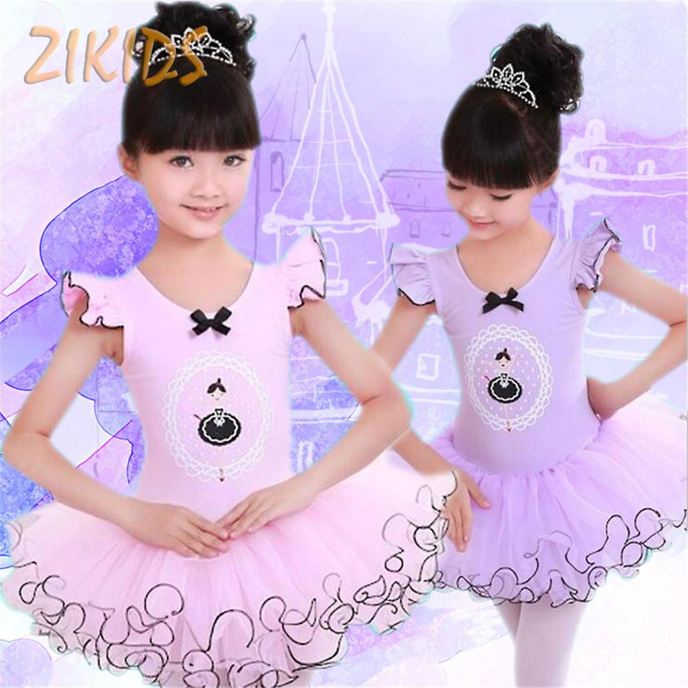 Moda niños Vestidos para Niñas alta calidad suave aprender a bailar ...