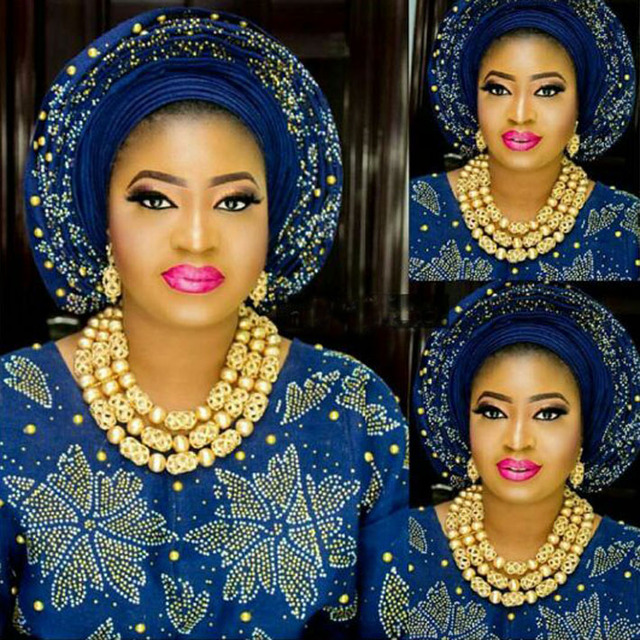 1473a828726 New Dubai Gold Women Bridal Statement Necklace Set African Nigerian Wedding  Jewelry Set Party Gift Free Shipping WE090