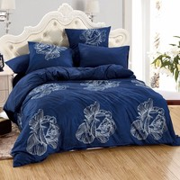 LILIYA 4 6Pieces High Quality Bedding Set Cozy Pillowcase Sheet With Elastic Luxury Duvet Cover M