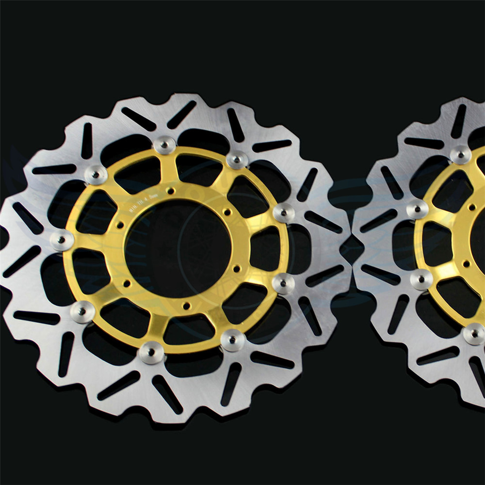 Motorcycle accessories front Brake Disc Rotor For Honda CBR600RR 2003 2004 2005 2006 2007 2008 2009 2010 2011 2012 2013 2014 sintered brake pad set for honda 1000 xl a4 va4 9 varadero xl1000 2004 2005 2006 2007 2008 2009 2010 2011