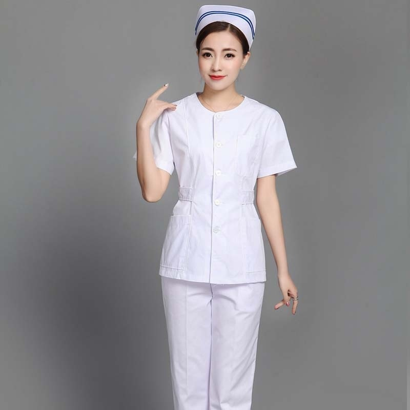 Women Slim Style Medical Uniforms (you Can Choose Adjustable Waist Shirt Or A Pair Of Elastic Waistline Pants Or A Whole Set)