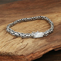 S925 wholesale silver jewelry Mens handmade Thailand silver buckle small flat safety Bracelet lines