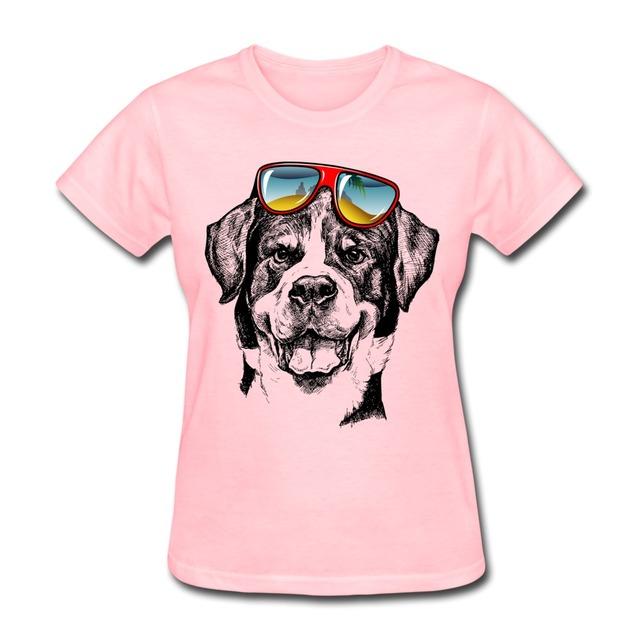 Personalizado Cão Meninas t camisa de Manga Curta Fresco Hot Sale Mulher camisa
