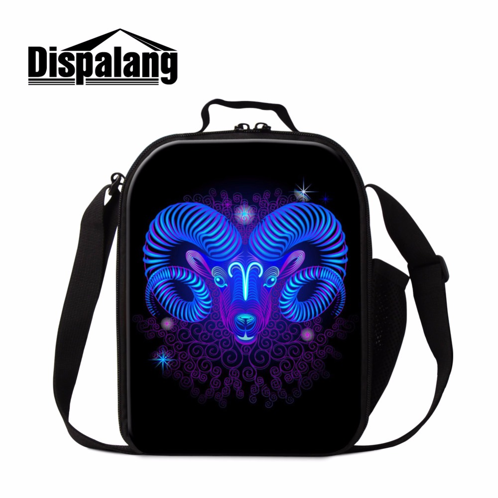 Dispalang 3D print aries children school lunch cooler bag thermo small food bag for kindergarten lightweight picnic bag for boys