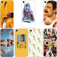 Freddie Mercury Rainha banda Qualidade Luxury Phone Case para iPhone 8 7 6 5 4 Plus X XS max 10 Hard Matte Plastic Coque Shell muslinlife cotton breathable baby blanket mutli functional muslin baby blanket newborn 100 patterns fashion swaddle available