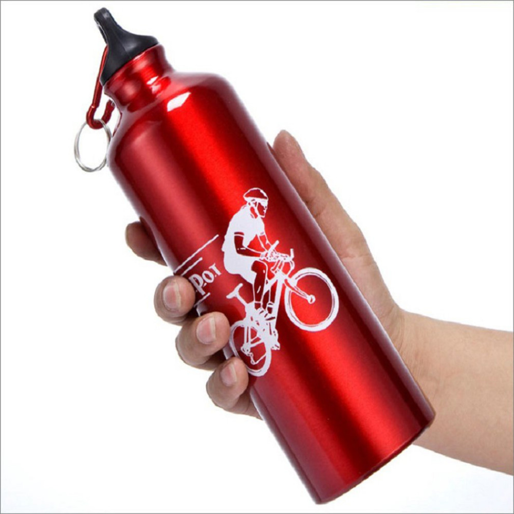 Portable Durable 750ML Aluminum Kettle Mountain Bike Cycling Water Drink Bottle MTB Bicycle Water Bottle