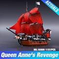 Nueva LEPIN 16009 1151 unids Reina Anne revenge Piratas del Caribe Building Blocks Set Compatible con 4195