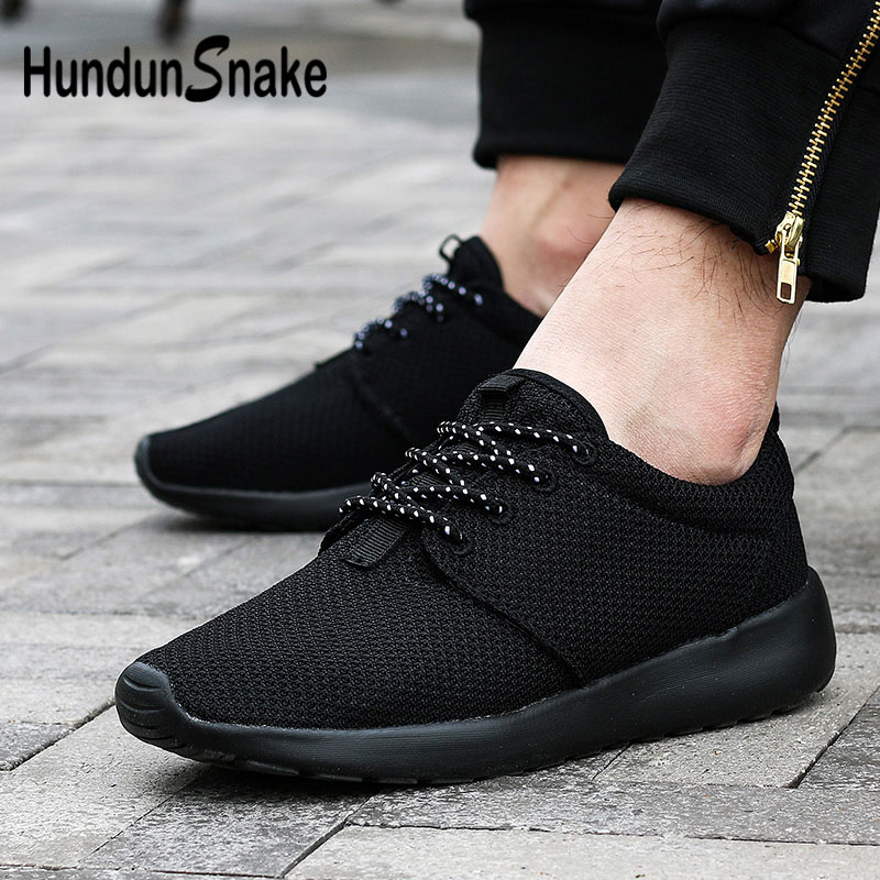 Hundunsnake Summer Male Shoes Sports Lightweight Mens Sneakers Women Breathable Calzado Hombre Mesh Footwear Black Krasovki G-30