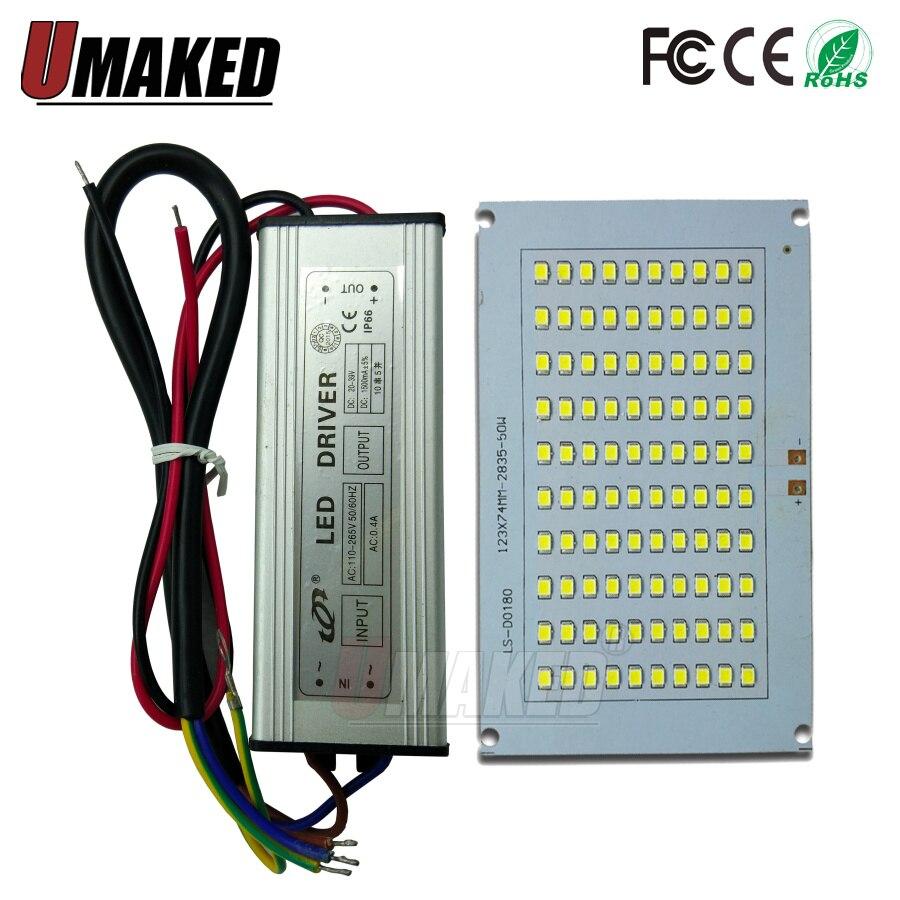 1set 100% Full Power LED Flooding PCB 20W 30W 50W 100W 150W SMD2835 Led PCB Board + Waterproof Driver For Floodlight