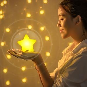 Image 2 - LED gece lambası sensörü kontrol enerji tasarrufu mini lamba oturma odası yatak odası aydınlatması abd/ab tak ночник çocuk gece lambası ışık