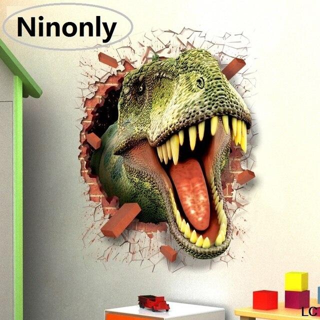 3D Dinosaurus Auto Muurstickers Decals voor Baby Kinderkamer ...