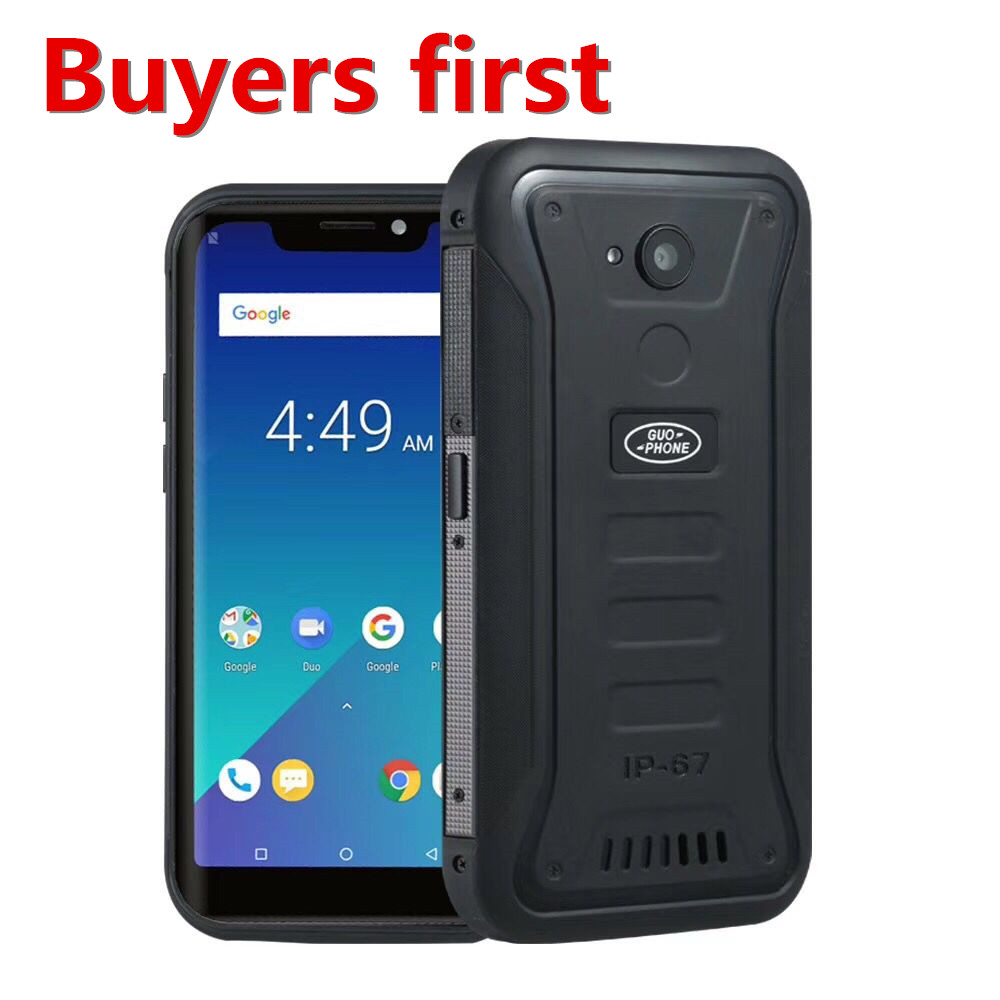 """2018 NEW Guophone X3 IP68 Waterproof mobile phone Android 8.1 MTK6739 Quad Core 5.5"""" FHD 4500mAh 2GB+16GB 8MP 4G LTE smartphone"""