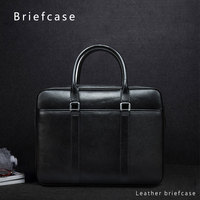 Genuine Leather Laptop Briefcase 13 3 14 Inch Computer Bag For MacBook Pro 13 Air 13