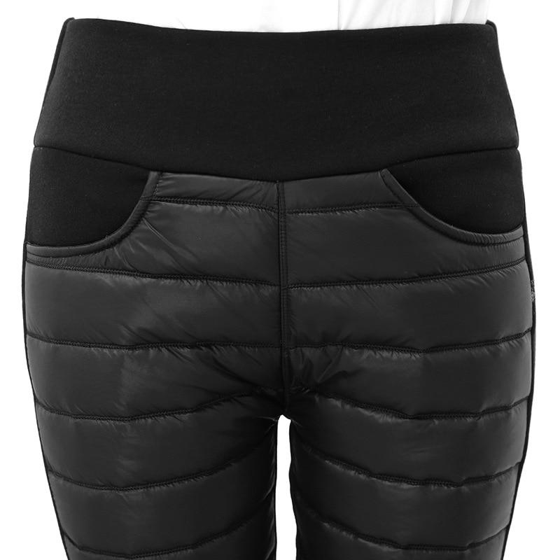 Thicken down Cotton Winter Warm Pants Women Elastic Waist Ladies Skinny Trousers Women's Casual Leggings Outwear Female Pants 1