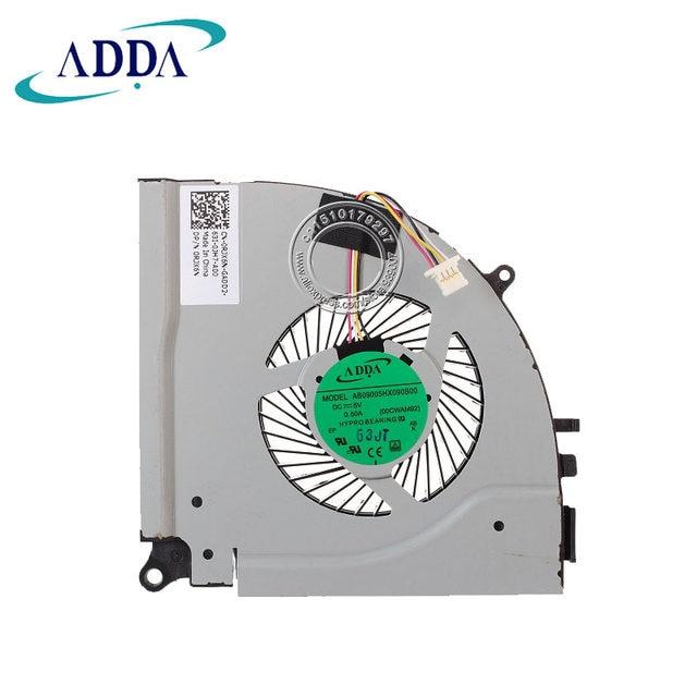 ADDA NEW FOR DELL Inspiron 15 7557 7000 7559 DP/N 0RJX6N 04X5CY CPU COOLING  FAN ADDA AB09005HX090B00 00CWAM92