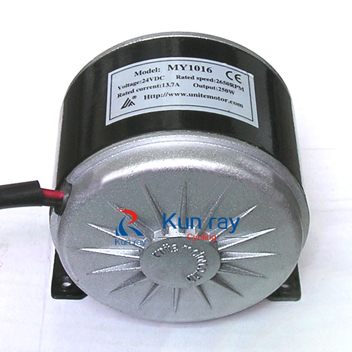 MY1016 High Speed Brushed 250WDC Motor ,EScooter 24V 13.7A Li-Battery Motor MTB Bike Engine Electric Bicycle Ebike Kit