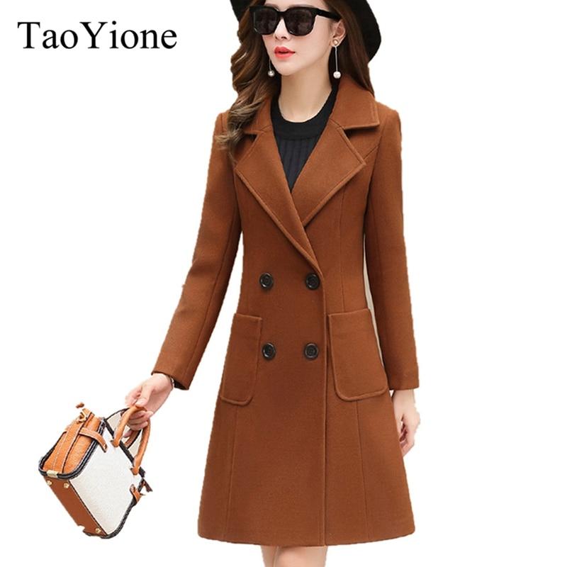 Winter Woman Jacket Coat Female 2018 Long Thick Warm Woolen Coat Windbreaker Elegant Jacket Women Overcoat