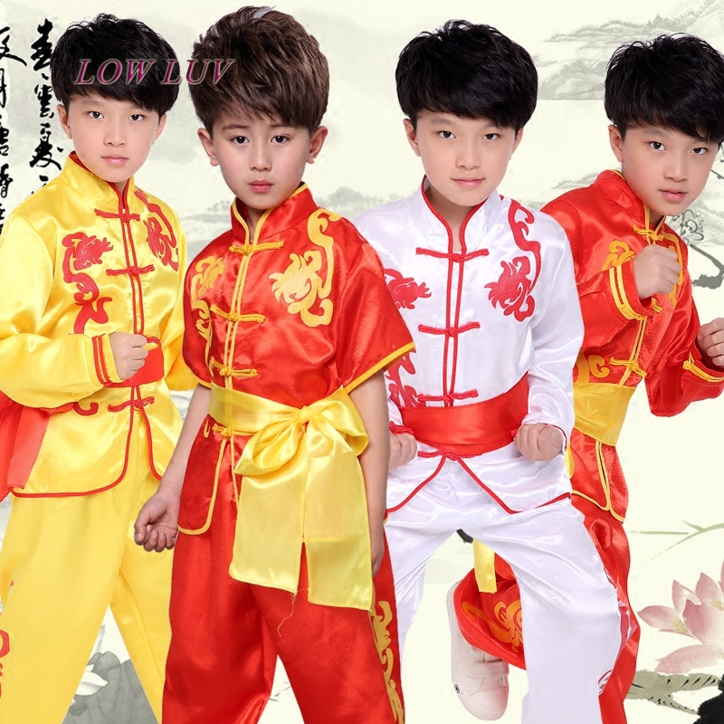 Chinese traditional clothing high quality neutral children 's martial arts performance costumes set children kung fu uniforms