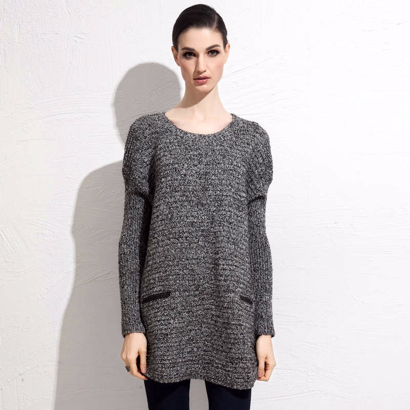 Wool Blends fall mid length sweater 9