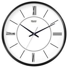 Фотография Maidin Big Ben Roman numerals Design Wall Clock,Silence Quartz Sweep movement,Safety for Bedrooom,Fashion Home Decor,30cm12