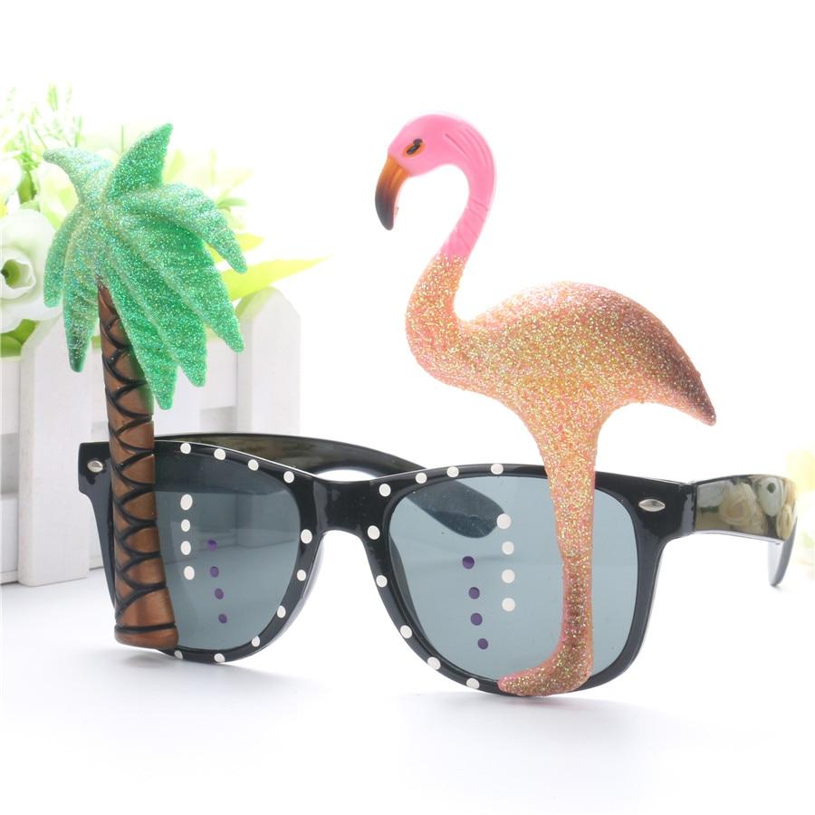 Komik Dekoratif Flamingo Plaj Partisi Miami Stil Kostümleri Güneş - Tatiller ve Partiler Için - Fotoğraf 5