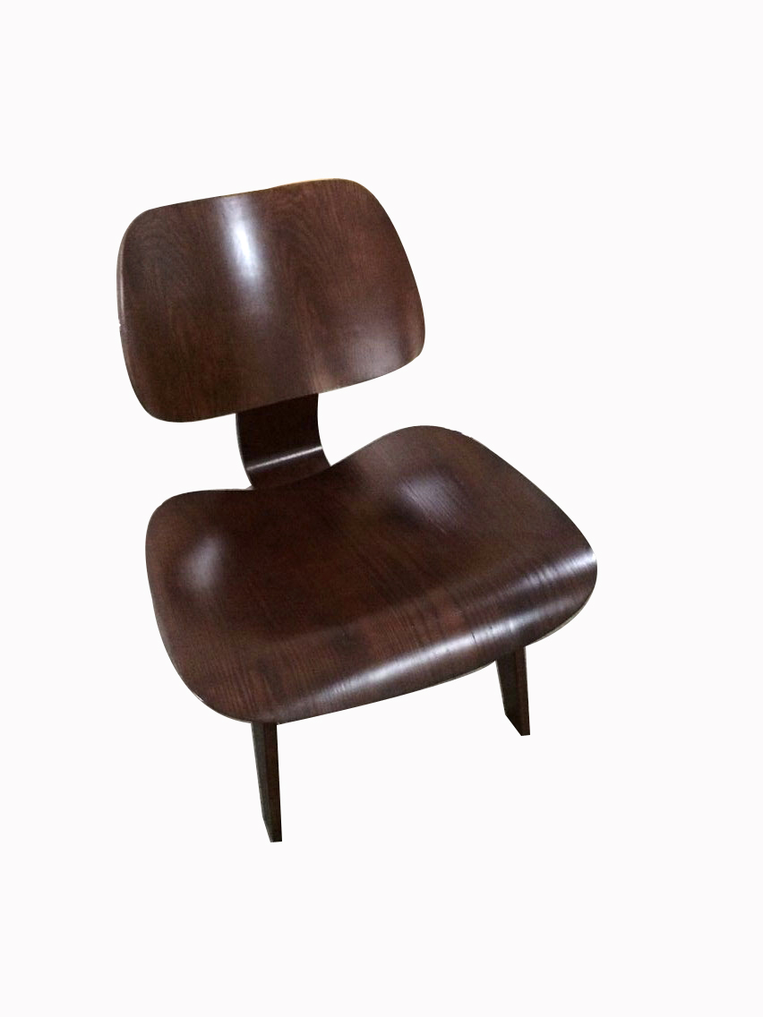 free shipping 2pcs dark brown lounge chair plywood LCW chair dg home кресло egg chair dark brown