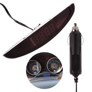 ad001ede561c Universal Auto reloj luminoso LED 12 V reloj Digital termómetro del coche  vehículo maletero tiempo con función de memoria