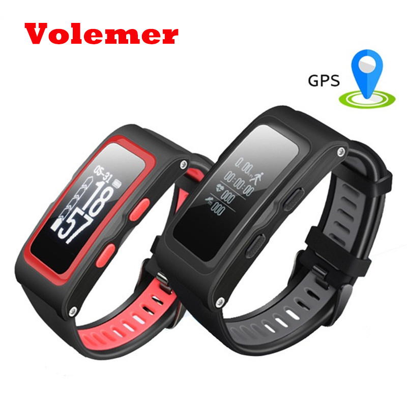 Volemer T28 Smart Band Support Independent GPS Track Record Temperature Altitude Heart Rate Smart Wristband Fitness