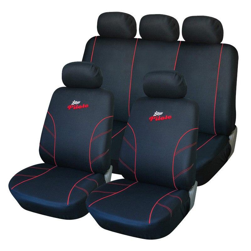2018 universel housse de siège de voiture accessoires intérieurs housses de siège de véhicule rouge style de voiture pour peugeot 307 golf 4 coussin de siège de voiture