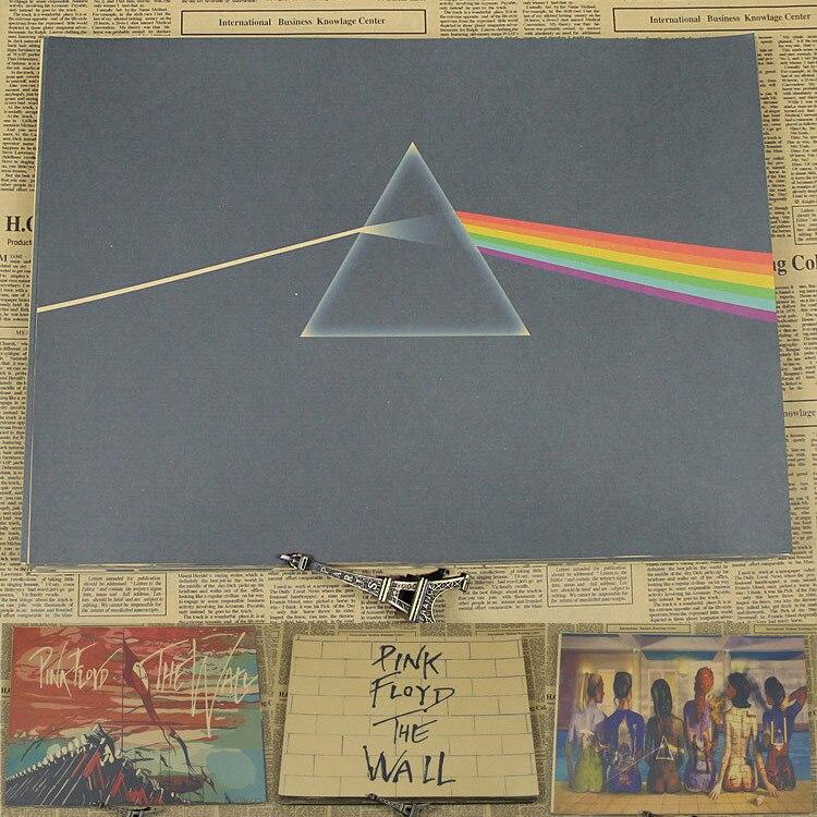 Винтаж Бумага Ретро аниме плакат-Pink Floyd-Плакаты/<b>Kid</b> Cudi ...