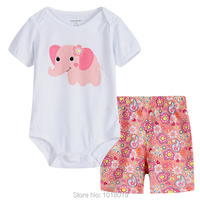 100 Cotton 2016 Branded Baby Girls Newborn Bebe 2pcs Clothing Clothes Set Summer Bodysuit Baby Girls