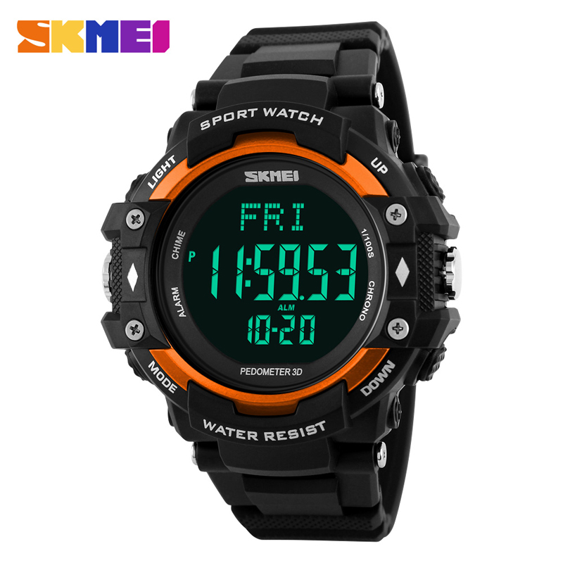 <font><b>SKMEI</b></font> 1180ZK30 NEW Luxury Brand Men Watch Men HeartRate Monitor Calories Digital Display Outdoor Sports Watches Reloj hombre image