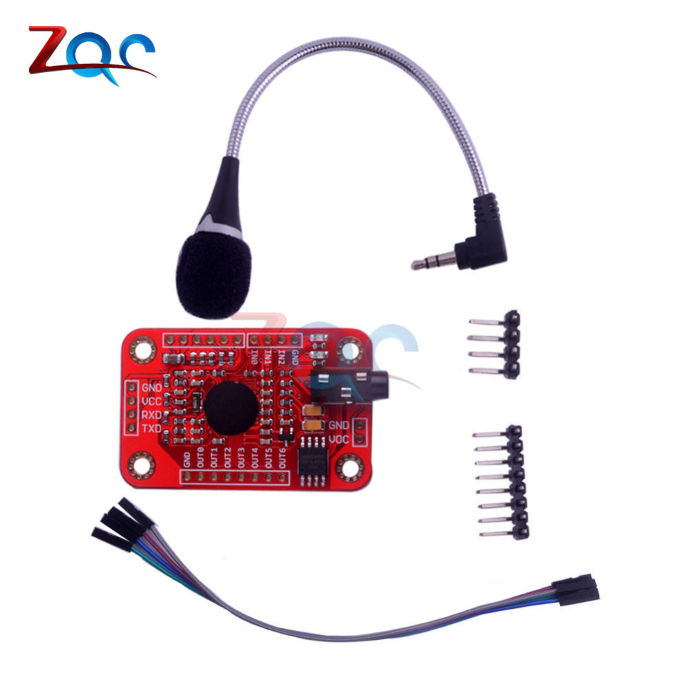 Speed Recognition, Voice Recognition Module V3, compatible for Arduino arduino wav player 22 1khz voice play sound broadcast module compatible with rpi stm32
