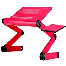 48*25cm Folding Laptop desk Bed portable tablet PC desk with USB fan