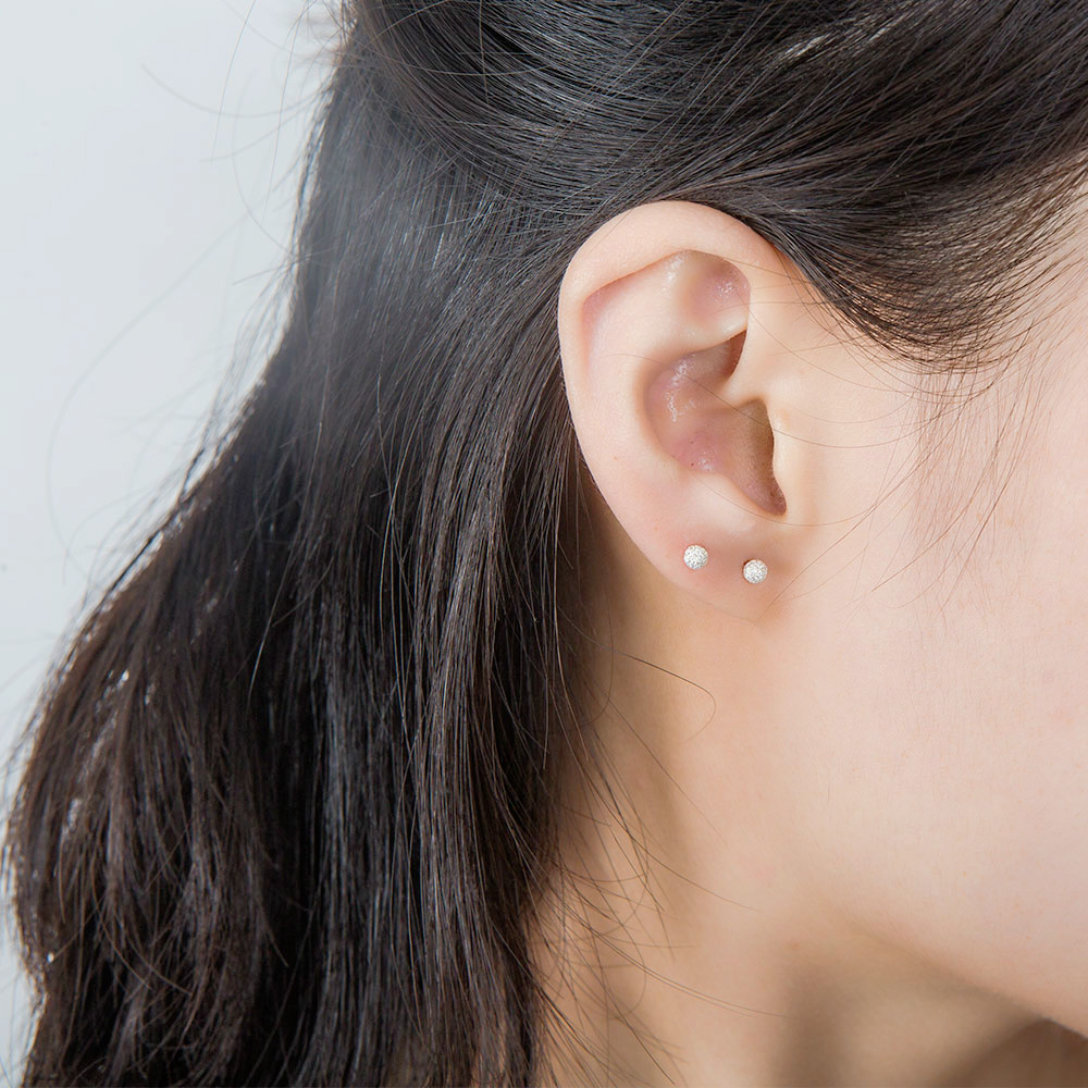 SA SILVERAGE 2018 Special Offer Party Round Real 925 Sterling Stud Earrings Fashion Jewelry Women Earing Earring Bars Female in Earrings from Jewelry Accessories