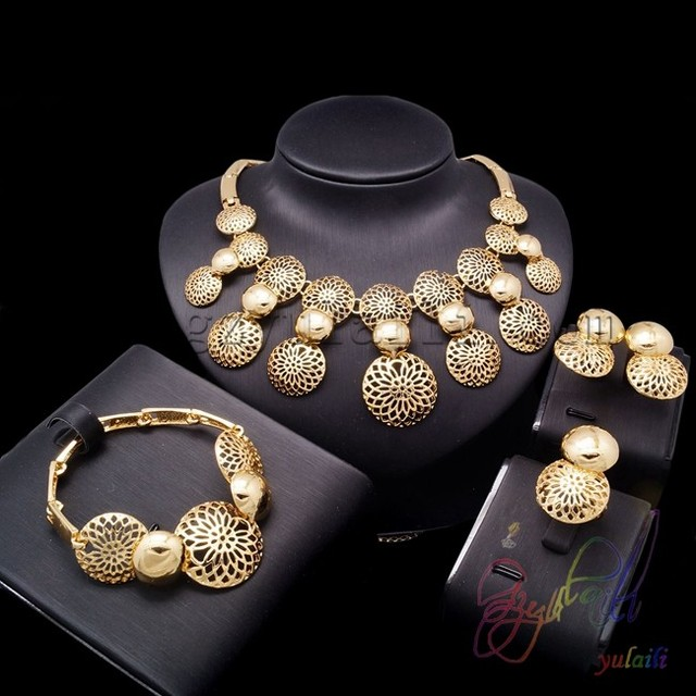 Free shipping jewelry settings catalog plated gold jewellery