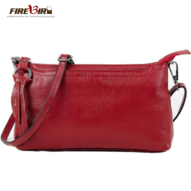 Women Messenger Bags 2017 Genuine Leather Small Crossbody Shoulder Bags Casual Famous Brand Ladies Hand purse bolsos mujer FN321 5 color famous brand designer tassel women handbag genuine leather shoulder crossbody bags messenger ladies purse satchel retro