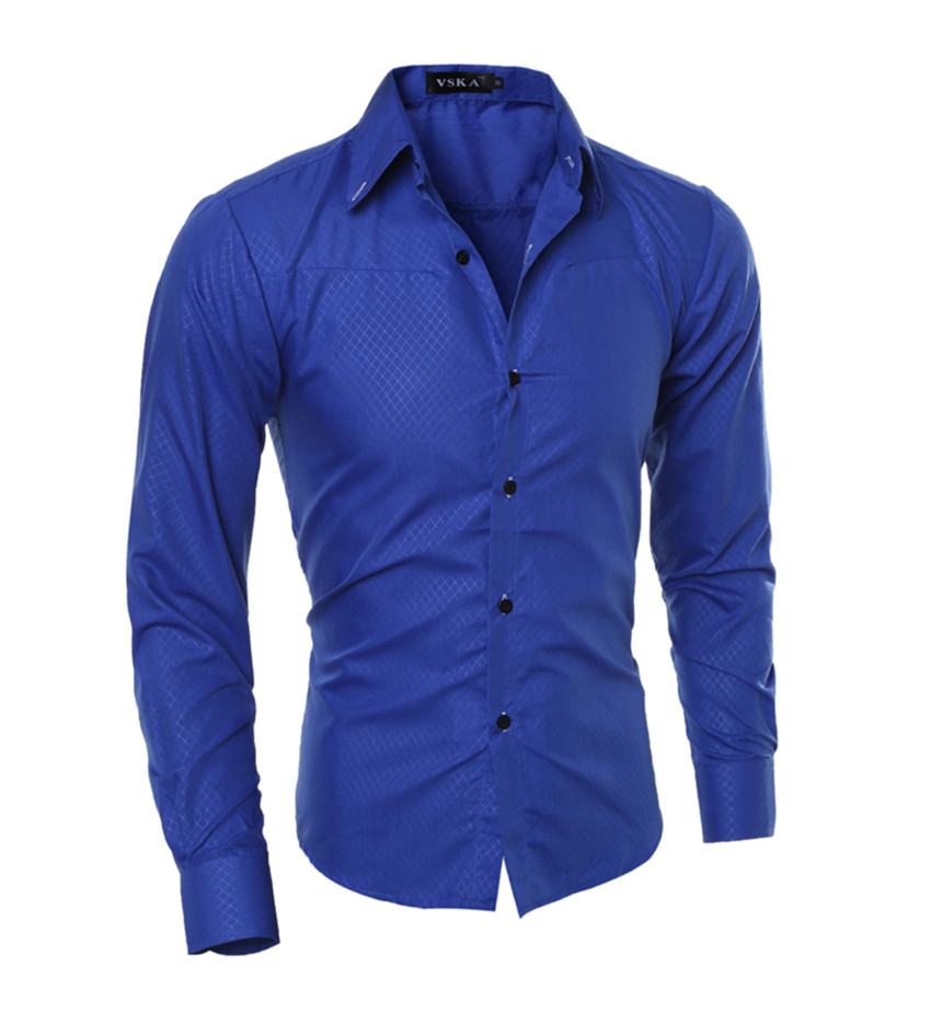 New Arrival Male Solid Color  Casual Shirt Cotton  1