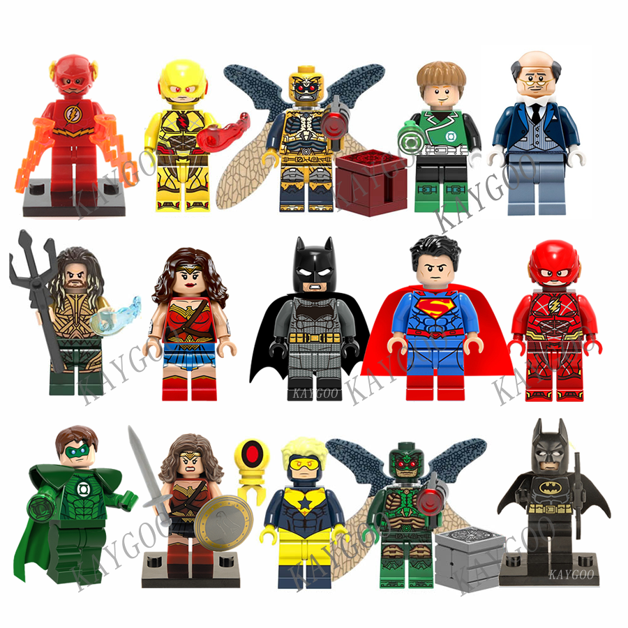 Single Sale Justice League Movie Super Heroes  Batman Wonderwoman Aquaman Cyborg Superman Figures Avengers Model Building Blocks