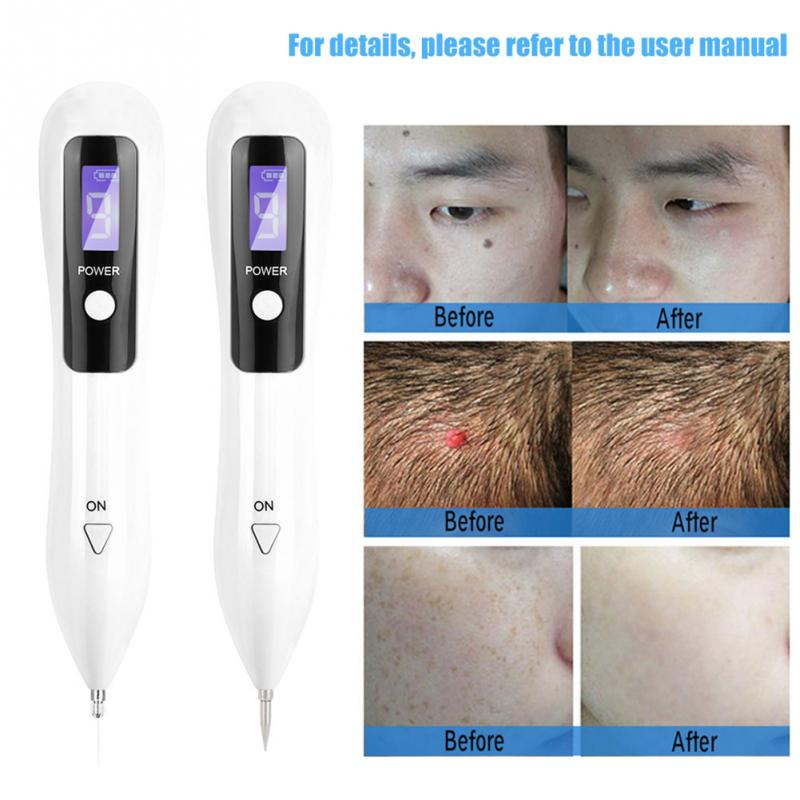 9 level LCD Face Skin Dark Spot Remover Mole Tattoo Removal Laser Plasma Pen Machine Facial Freckle Tag Wart Removal Beauty Care-in Face Skin Care Tools from Beauty & Health