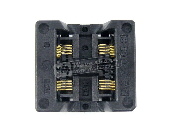 Modules SSOP8 TSSOP8 OTS-8*2(34)-0.65-01 Enplas IC Test Socket Adapter 5.3mm Body Width 0.65mm Pitch 2-Units in 1 modules sop28 so28 soic28 ots 28 1 27 01a enplas ic test socket programmer adapter 8 6mm body width 1 27mm pitch