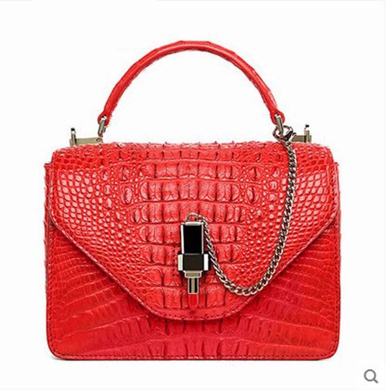 hlt new crocodile leather women handbag satchel bag with a Thai leather single shoulder women bag flap щипцы hlt 10