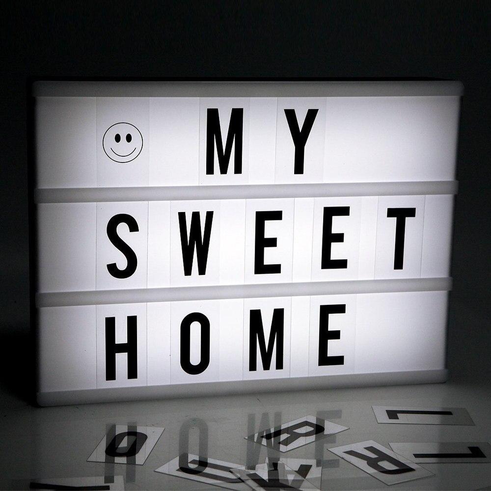2018 Premuim Новый A4 A6 Размеры LED Комбинации окна свет ночника DIY черные буквы карты usb порт питание Кино лайтбокс