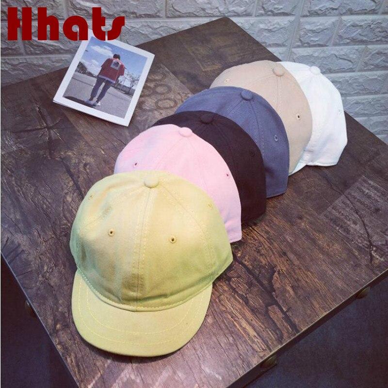 Cotton Short Brim   Baseball     Cap   For Women Men Solid Soft Brim Snapback Hat Female Vintage Trucker Hat Retro Male   Cap   Gorras