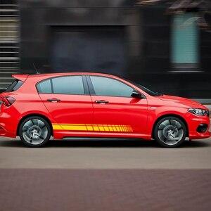 Image 2 - רכב צד מדבקות עבור אאודי BMW פורד פולקסווגן טויוטה רנו Peugeot מרצדס הונדה מיני אוטומטי ויניל סרט רכב כוונון אבזרים