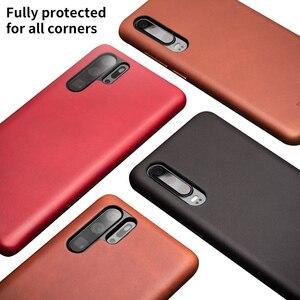 Image 2 - QIALINO אופנה אמיתי עור Ultra Slim טלפון מקרה עבור Huawei P30 פרו 6.47 אינץ יוקרה בעבודת יד חזרה כיסוי עבור Huawei p30