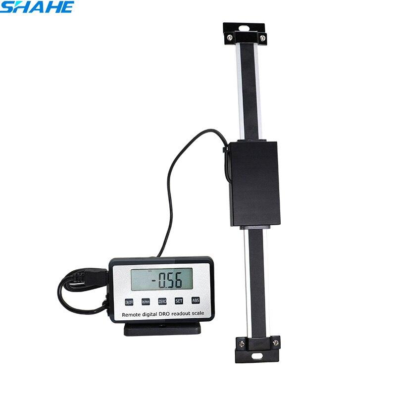 Shahe 0-200mm digital linear escala digital remoto readout linear exibição régua externa com base lcd